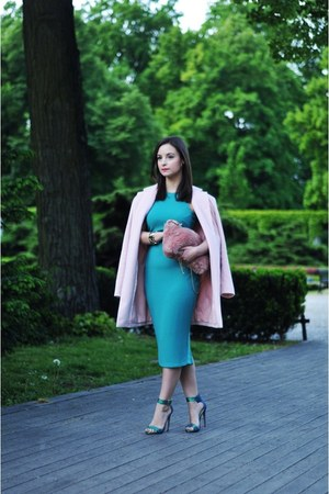 aquamarine H&M dress - pink Stradivarius bag - turquoise blue Steve Madden heels