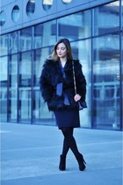 black Balmain x H&M jacket - black Stradivarius bag