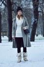 Tan-zara-kids-shoes-heather-gray-mango-coat-dark-gray-stradivarius-bag