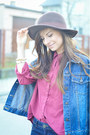 Denim-secondhand-jacket-jeffrey-campbell-boots-bershka-jeans-bershka-hat