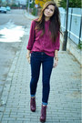 Denim-secondhand-jacket-jeffrey-campbell-boots-bershka-jeans-bershka-hat