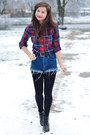 Checkered-atmosphere-shirt-stradivarius-coat-h-m-tights-secondhand-tights