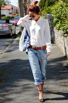 River Island jeans - Zara shoes - white Zara shirt