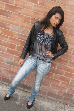Naf Naf blouse - Naf Naf jeans