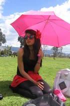 Abril skirt - vintage accessories - Abril sunglasses - American Apparel leggings