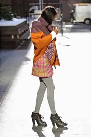 cape-jacket Missoni cape - black Miu Miu boots - ivory Joseph A sweater