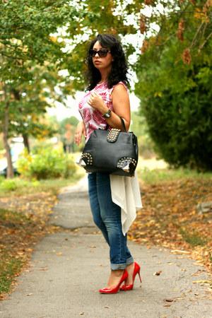 OASAP bag - Denham jeans - PERSUNMALL blouse - Christian Louboutin heels