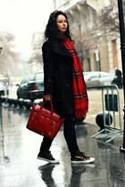 romwe scarf - OASAP bag - Converse sneakers
