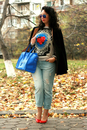 OASAP sweater - OASAP jeans - Celine bag - zeroUV sunglasses