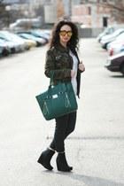 Diesel jeans - VJ-style jacket - OASAP shirt - Choies sunglasses