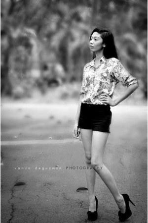 floral print next blouse - black Forever21 heels