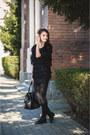 Black-strech-zara-tights-black-leather-h-m-bag