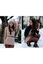 beige mini dress Gale Beatrice dress
