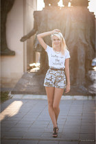army green army Beatrice Gale shorts