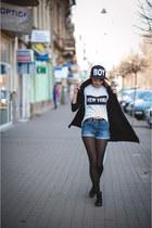 black black H&M boots - black hat barbares hat