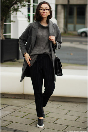 shoes - coat - sweater - pants