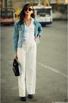 shoes - jacket - shirt - bag - pants