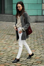Coat-jeans-sweater-bag-loafers