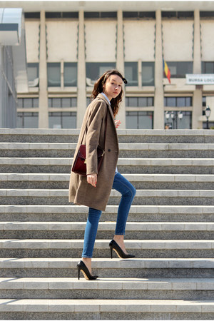 Zara coat - vintage bag