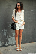 blouse - shorts - sunglasses - sandals - top