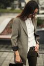 Mango-boots-vintage-blazer