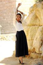 vintage skirt - Topshop blouse