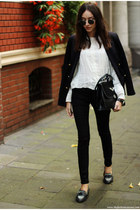 shoes - jeans - blazer - bag - blouse