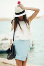 Hat-bag-sandals-skirt-top