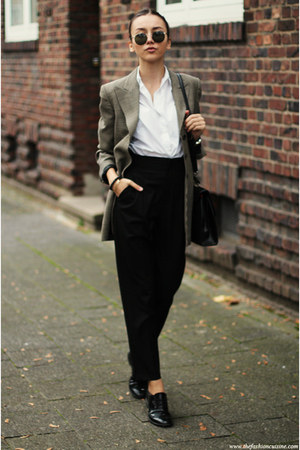 shoes - blazer - shirt - bag - pants