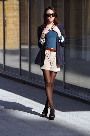 Zara blazer - Mango shorts