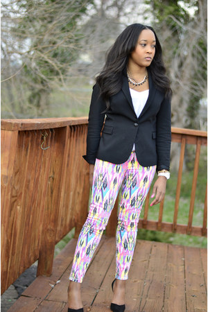 Zara blazer - Current Elliott jeans - Zara heels - Movado Bold watch