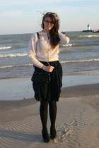 black Gap dress - light pink vintage cardigan - black Walmart tights - black xhi