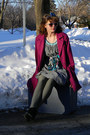 Black-xhilaration-boots-heather-gray-thrifted-mossimo-dress-turquoise-blue-m