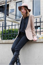 Tan-zara-blazer-black-zara-shirt-black-gucci-boots-tan-staring-at-stars