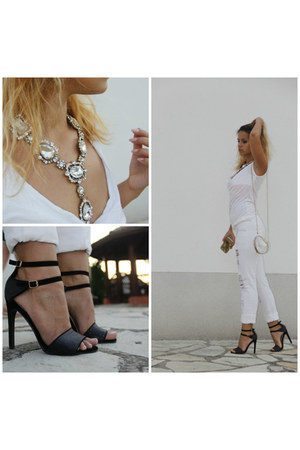 Happiness Boutique necklace - PS Fashion bag - new look heels