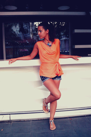 orange Orsay blouse