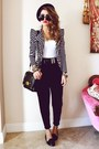 Black-bowler-hat-romwe-hat-black-striped-blazer-yes-style-blazer