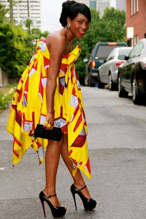custom made dress - Christian Louboutin heels
