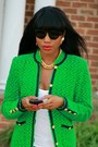 Christian-louboutin-shoes-ripped-jcrew-jeans-green-elizabeth-arden-jacket