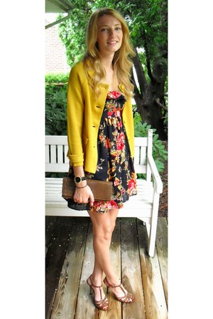 sweater J Crew jacket - floral Target dress - Target watch