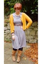 silver Topshop dress - camel Topshop boots - burnt orange Urban Outfitters belt