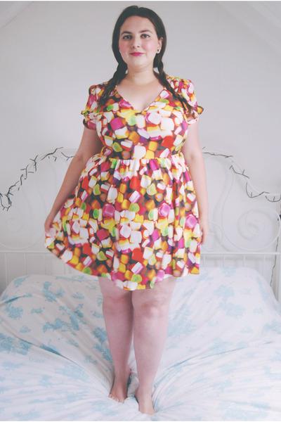 hot pink print Topshop dress