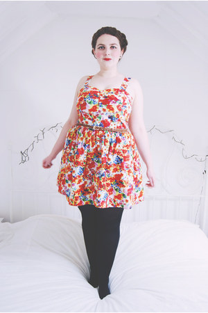 red floral Primark dress
