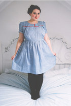 blue gingham Ready Ruthie Originals dress