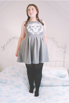 heather gray skater H&M dress