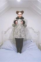 white dalmatian print Topshop coat