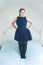 navy skater Topshop dress