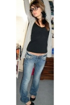 hollister sweater - JC Pennys shirt - Lucky Brand jeans - Forever21 shoes - Nobb