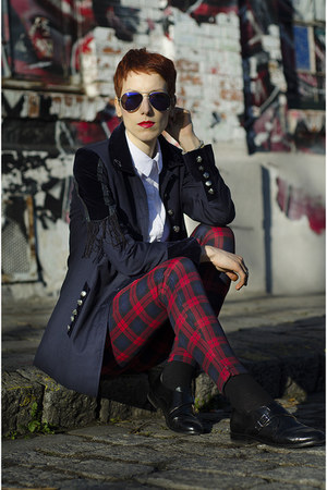 Sheinside blazer - zeroUV sunglasses - Sheinside pants