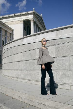 H&M jeans - romwe blouse